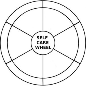 blank self care wheel